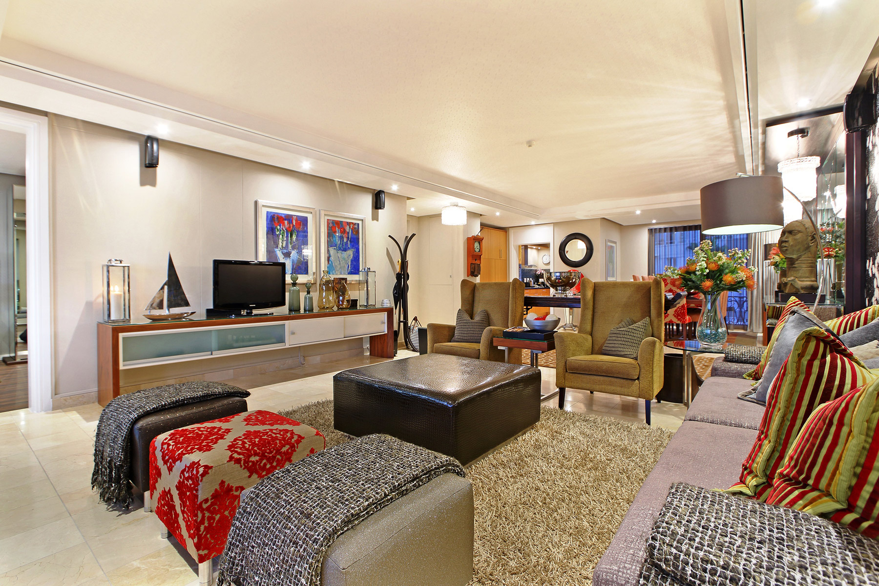 two bedroom apartments lounge