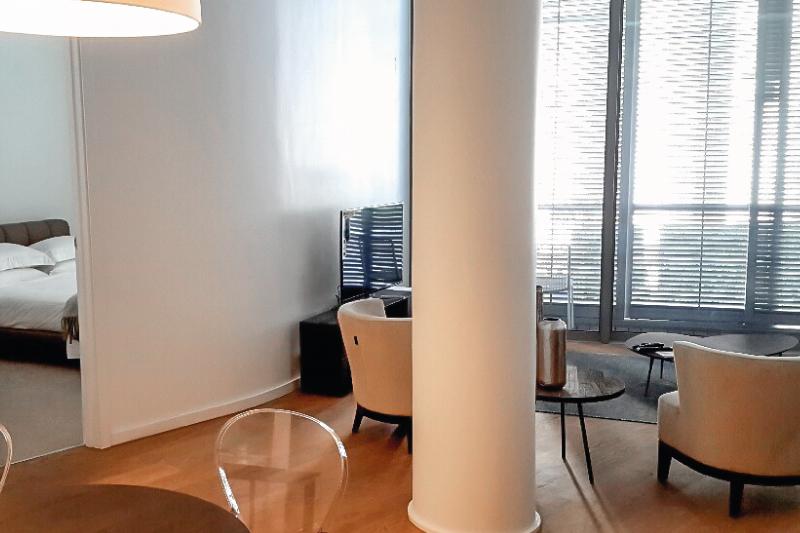 silo apartments living room