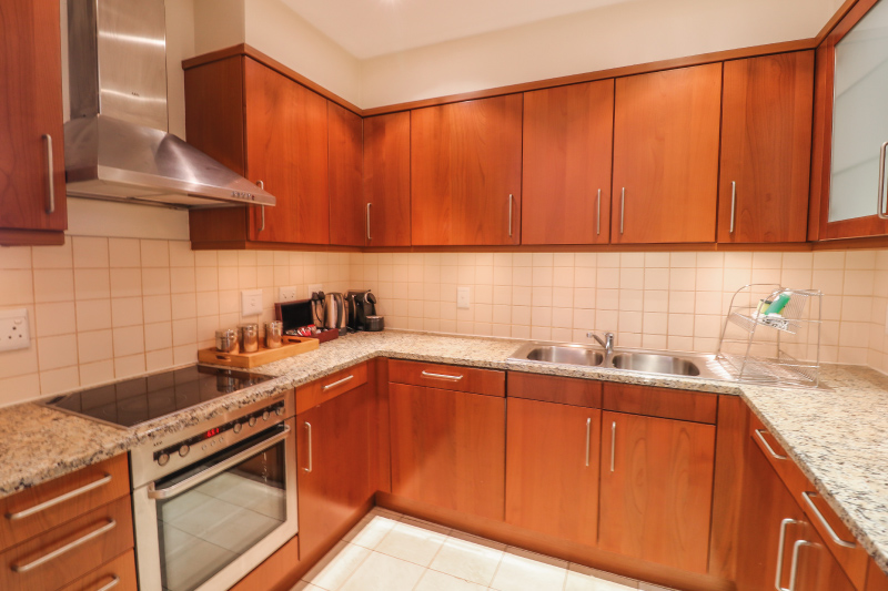 two bedroom apartments kitchen